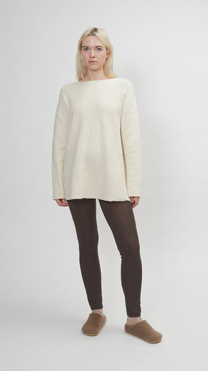 Lauren Manoogian Flare Pullover in Raw White