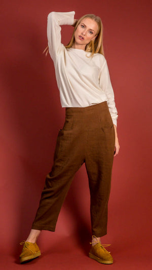 Lauren Manoogian Fitted Pocket Pants in Moro