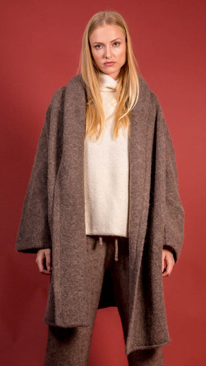Lauren Manoogian Capote Coat in Mushroom
