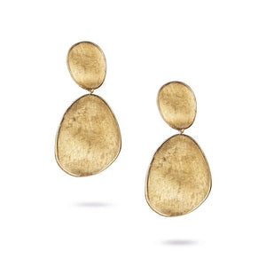 Marco Bicego Lunaria Collection Large Double Drop Earrings in 18K Yellow Gold