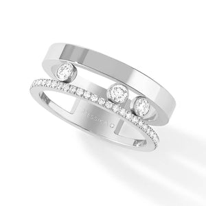 Messika Move Romane Ring in 18k White Gold with Diamonds