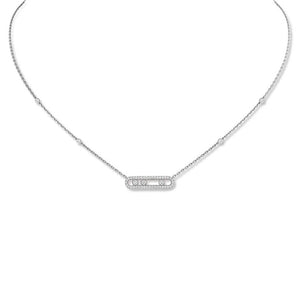 Messika Baby Move Pave Necklace in 18k White Gold with Diamonds