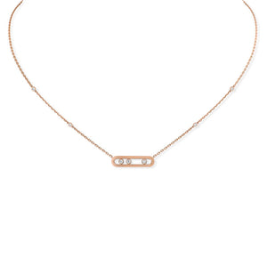 Messika Baby Move Necklace in 18k Pink Gold with Diamonds
