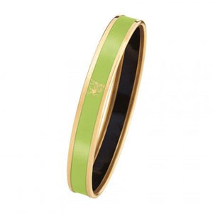 Monochrome Bordered Bangle Mademoiselle - Lime Green