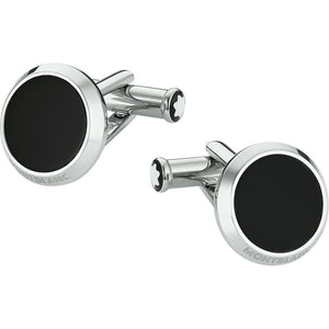 Meisterstuck Cuff Links - Round Black Onyx