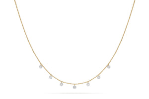 Paul Morelli Floating Diamond Necklace with 7 Diamonds