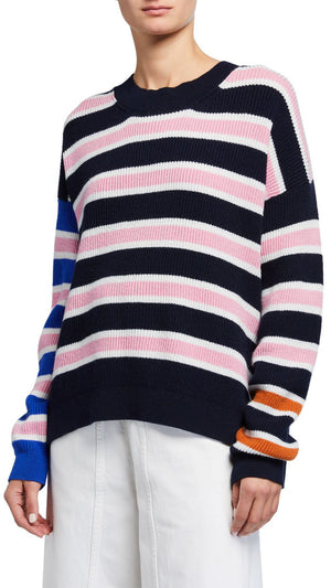Christian Wijnants Knitted Sweater - Navy/Pink Stripe
