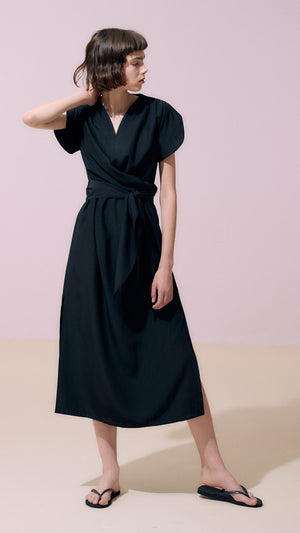 Neul Sweetheart Swallowtail Soft Dress in Black
