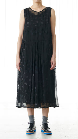Pas de Calais Sheer Sparkle Dress in Black