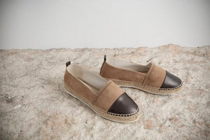 Peserico Suede Espadrille Slip on with Contrast Detail