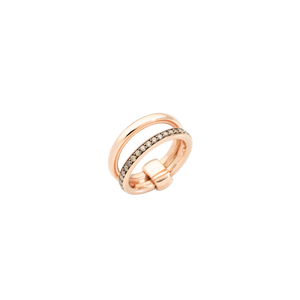 Pomellato Iconica Band Ring with Champagne Diamonds