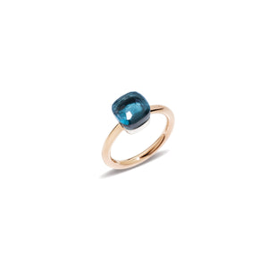 Pomellato Mini Nudo Blue London Topaz Ring