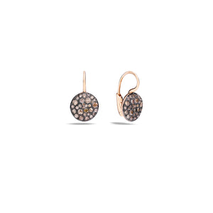 Pomellato Sabbia Earrings in Rose Gold with Champagne Diamonds