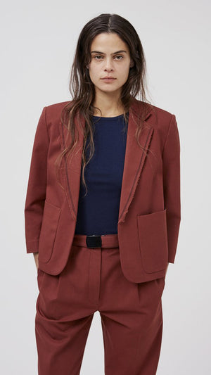 Rachel Comey Birgitt Jacket in Cocoa Cotton Bistretch