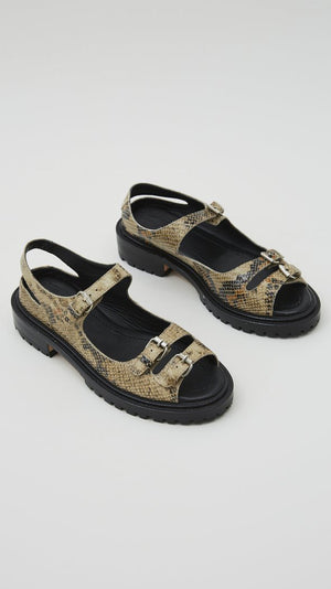 Rachel Comey Adams Sandal in Bone Snake Leather