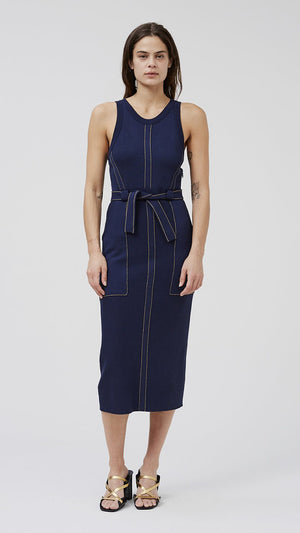 Rachel Comey Inhibit Dress - Navy Brighton Knit