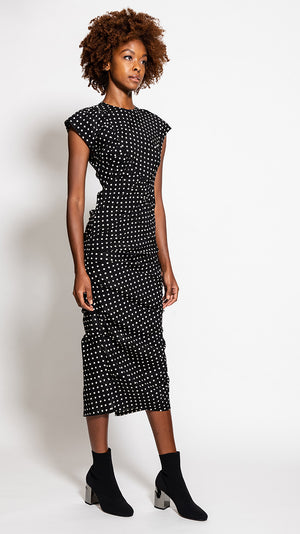 Rachel Comey New Delirium Dress in Black Polka Dot