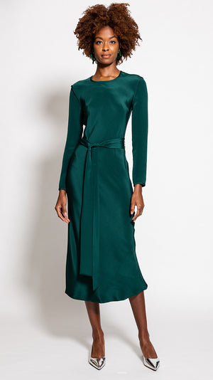Rachel Comey Saranac Dress in Forest Green