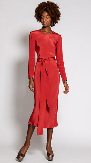Rachel Comey Saranac Dress in Tomato