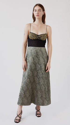 Rachel Comey Ruz Dress - Gold Crystal Hex