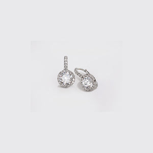 SIGNATURE-18K-WHITE-GOLD-EARRINGS-.50CT-MICRO-PAVE-SET-DIAMONDS-ON-LEVERBACK-WITH-CUBIC-ZIRCONIA-CENTER-STONE