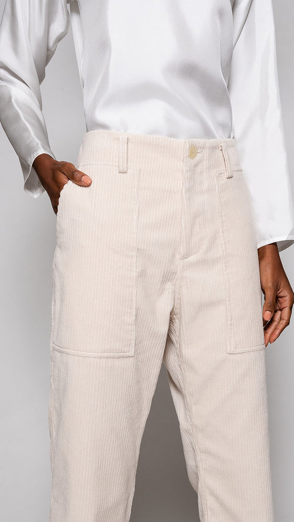 Sofie D'Hoore Porter Pant in Almond