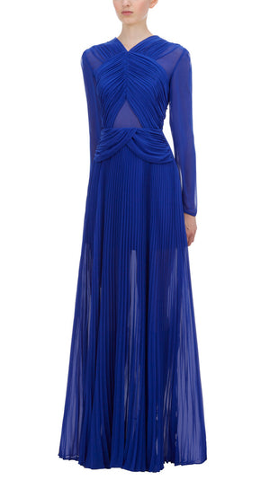 Self Portrait Cobalt Blue Cross Front Maxi Dress