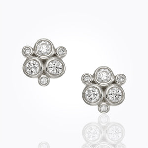 Temple St. Clair - White Gold Classic Trio Earrings