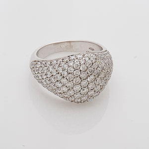 Signature Pave Diamond Pinky Ring in 18k White Gold