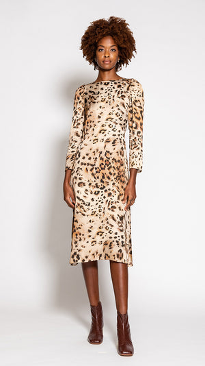 Tara Jarmon Rozica Dress in Leopard Print