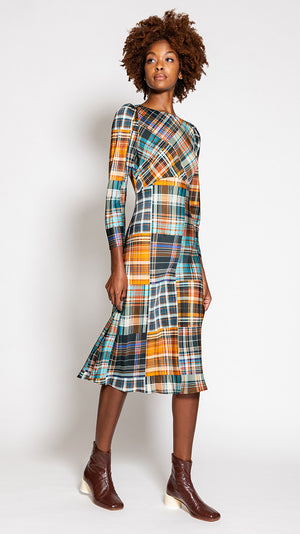 Tara Jarmon Rozica Dress in Tartan Print