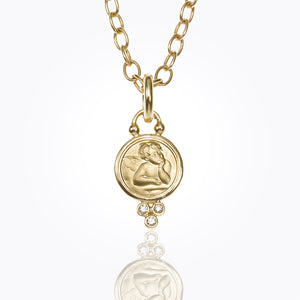 Temple St. Clair Angel Pendant With Diamonds 14mm