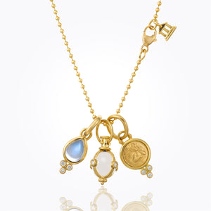 Temple St. Clair - Angel, Amulet & Moonstone Charm Necklace