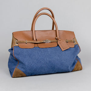 Denim and Canvas Travel Bag Denim