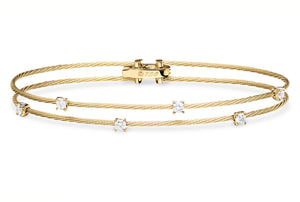 Paul Morelli Double Unity Bracelet with 6 Diamonds in Yellow Gold