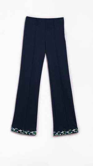 Vilagallo Guillia Navy Knit Trouser