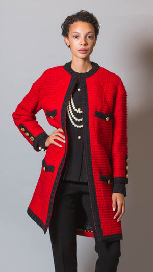 Edward Achour Paris Wool Jacket - Red