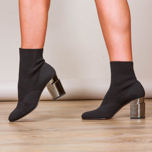 Clergerie Keane Stretch Sock Ankle Boot - Black