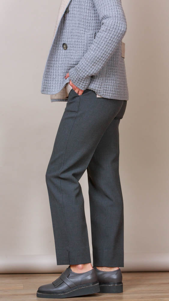 Grey Pants With Pockets - Charcoal