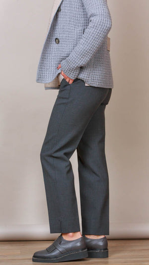 Peserico Grey Pants With Pockets - Charcoal