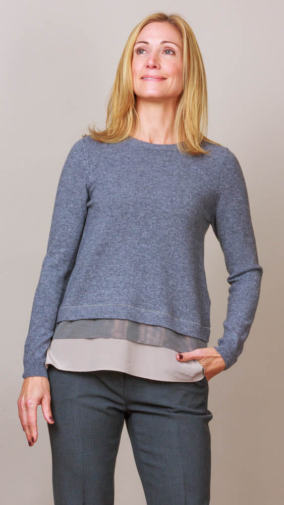 Layer Detail Sweater - Grey