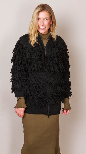 Philosophy Di Lorenzo Fringed Cardigan - Black