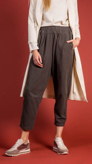 Black Crane Carpenter Pants - Dark Charcoal Gray