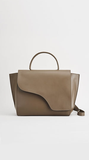 ATP Atelier Volterra Khaki Brown Large Handbag
