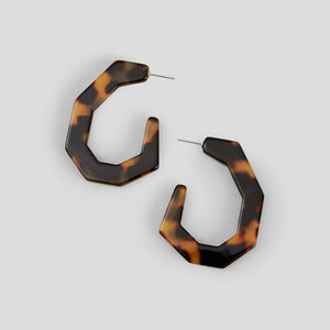 Rachel Comey Baby Factor Earrings - Tortoise Acrylic