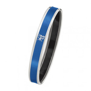 Monochrome Bordered Bangle Mademoiselle - Lapis Blue Silver