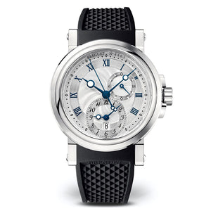 Breguet Marine GMT 5857ST125ZU with Black Rubber Strap