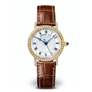 Breguet Classique 8068BA/52/964/DD00 in 18k Yellow Gold with Diamond Bezel
