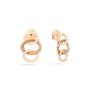Pomellato Brera 18K Rose Gold Diamond Earrings