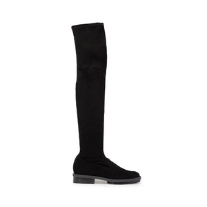 Clergerie Rock Thigh High Boots - Black Suede